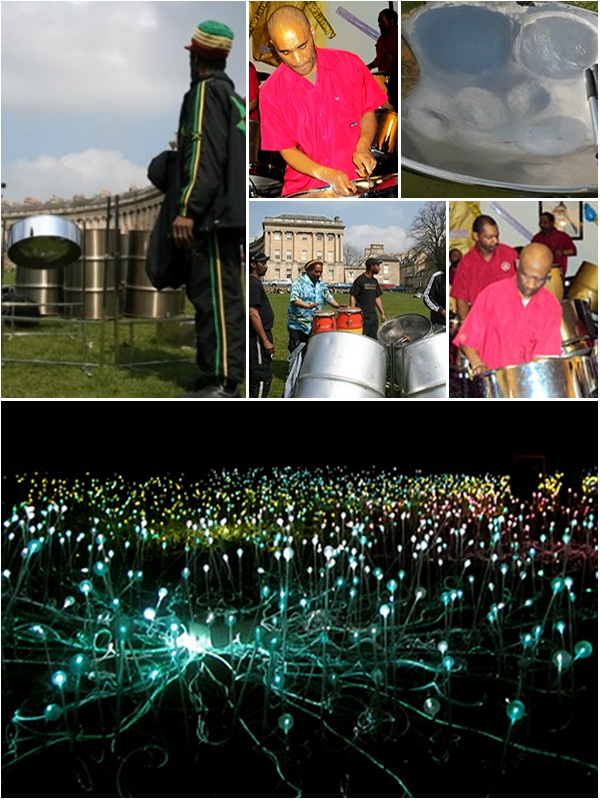 Catch the incredible rainbow steel band performing at Bath's Holburne Museum